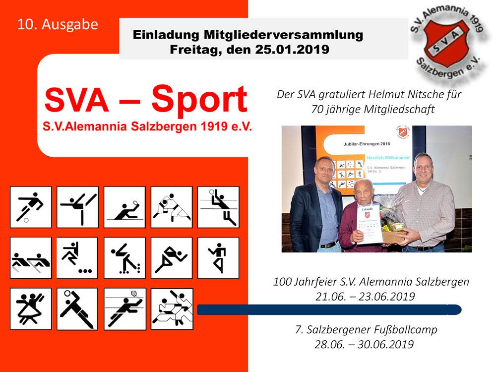 """Neue Ausgabe Magazin """"SVA-Sport"""" erschienen"""
