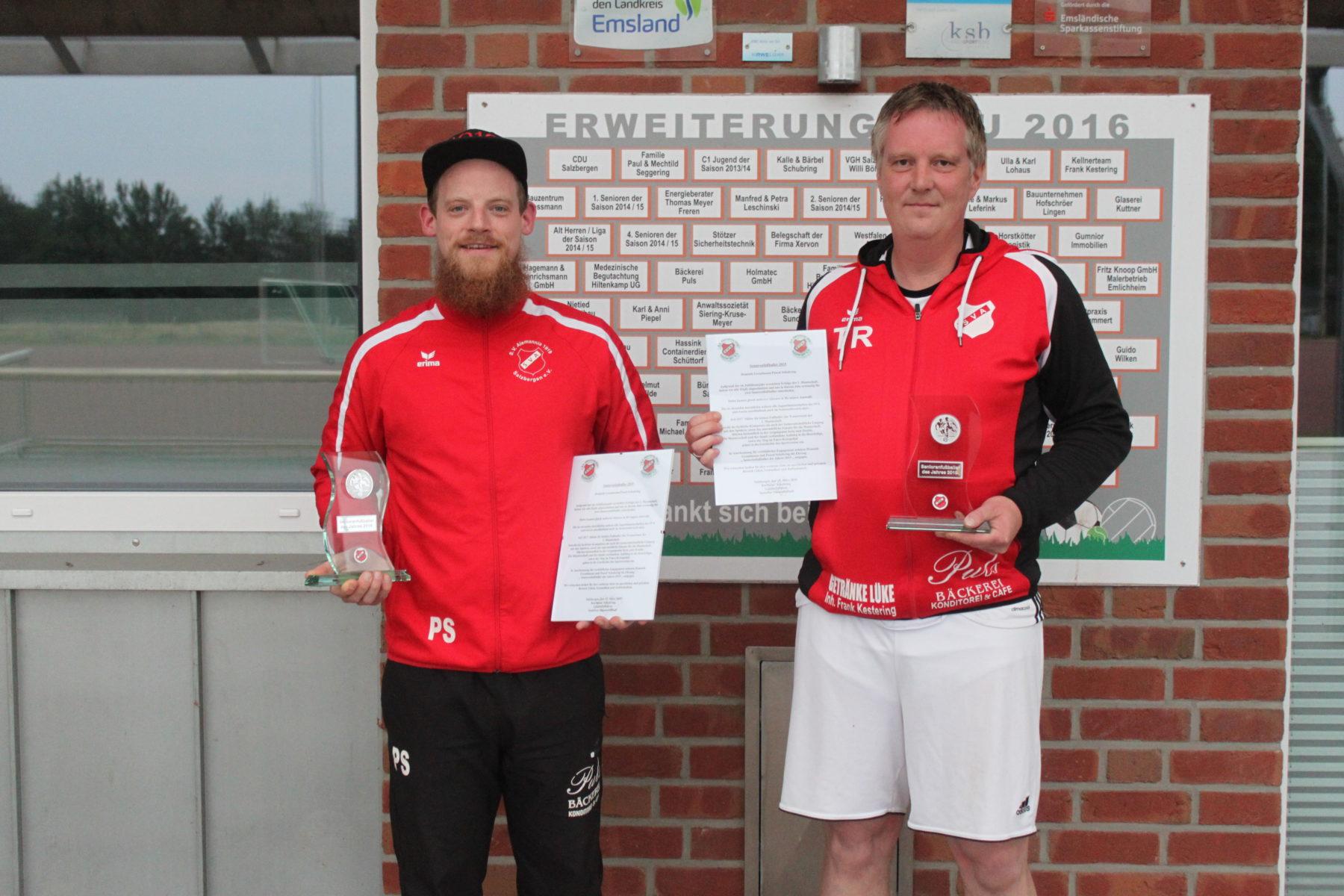 """Trainerteam der Ersten offiziell verabschiedet - Grondmann und Schubring """"Fußballer des Jahres 2019"""""""