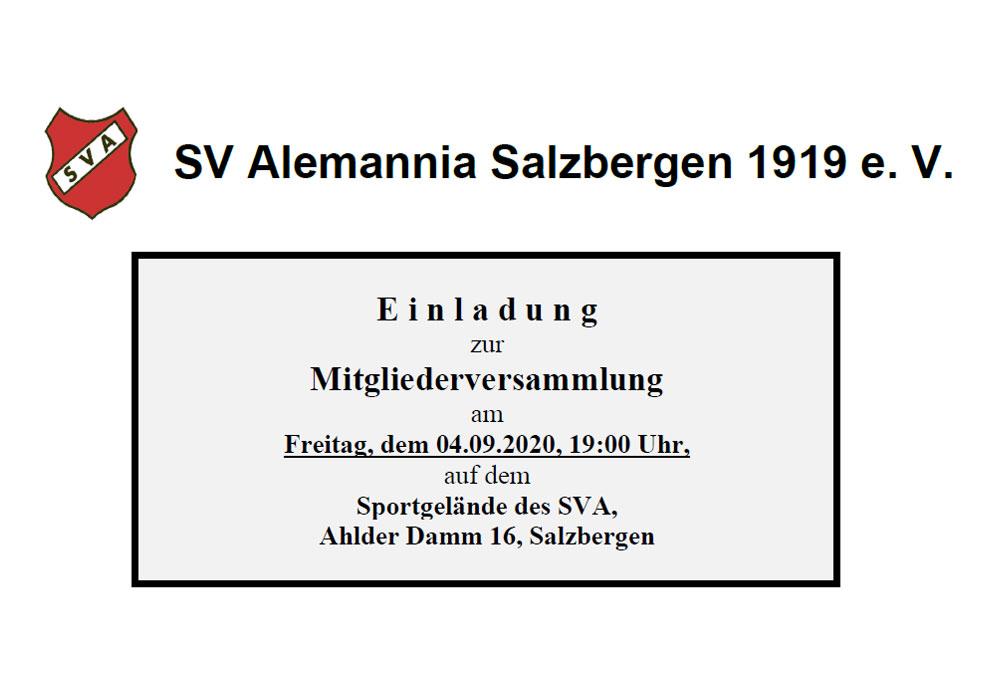 Einladung zur Mitgliederversammlung 2020 – 04. September